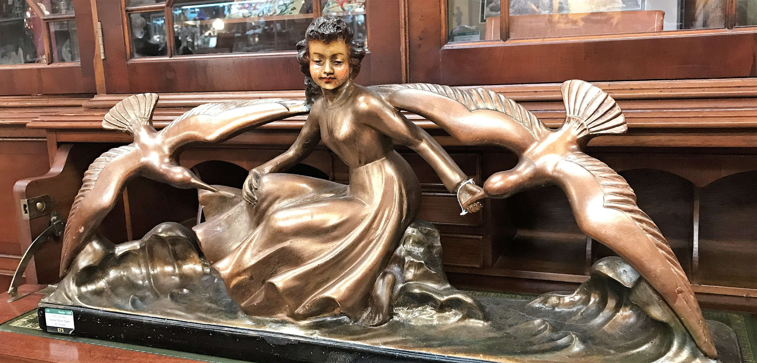 'Girl feeding Birds' statue from the Art Deco period