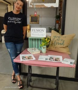 Jody with Fusion paints