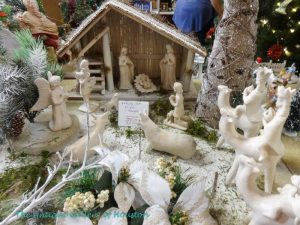 White creche and figurines
