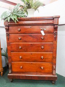 Furniture: Scottish Gentleman's chest, 1800's, dealer F6, 1242