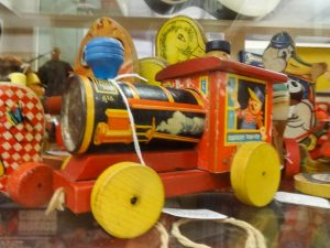 Fisher-Price wooden train pull toy