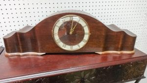 German Long case mantel clock with Roman numerals