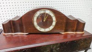 German Long case mantel clock with Roman numerals