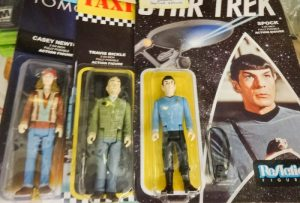 Action figure toys from the Star Trek series and movies, dealer 1304, show.case 7
