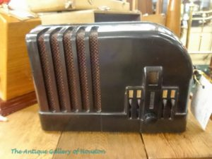Black Bakelite case, vintage radio