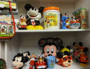 Selection of Mickey Mouse collectibles, booth A 11