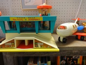 Classic Fisher-Price airport and plane, Booth B8