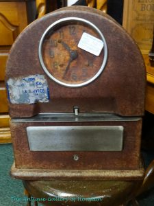 Vintage time clock, Booth J8