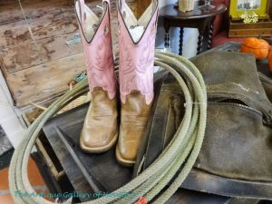 pink and brown girl's boots, authentic lariat, saddlebag, Booth V3