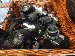 Vintage top brand 35 mm still cameras