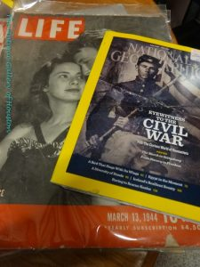Vintage National Geographic and Life Magazines