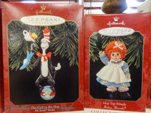 Tree decorations, Cat in the Hat and Raggedy Ann