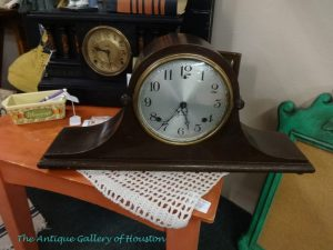 Vintage mantel or table top clocks in dark wood