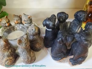 Cat and dog candle holders, Booth W4