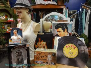 Elvis books, pictures, and game, Booth X7