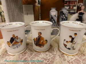 Mugs with famous Norman Rockwell characters, Booth U7/T7