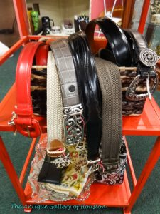 Contemporary styled belts and small bags