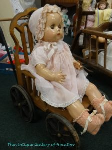 Antique doll in buggy, Booth Q5