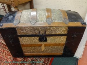 Ornate trunk with removable tray, Booth F 4b
